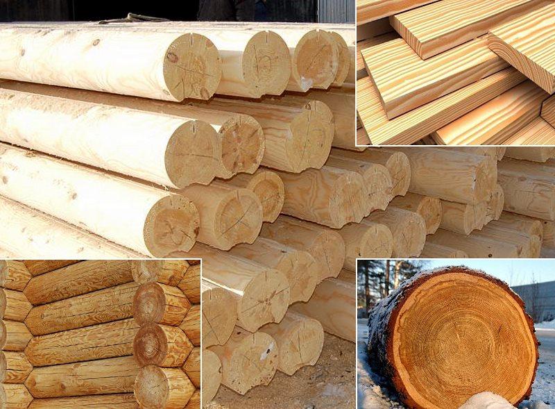 строительный материал из лиственницы