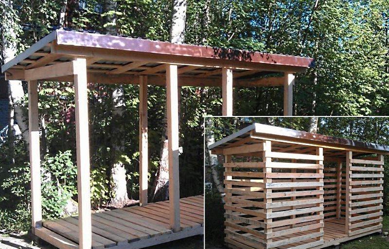 последний этап строительства дровяника