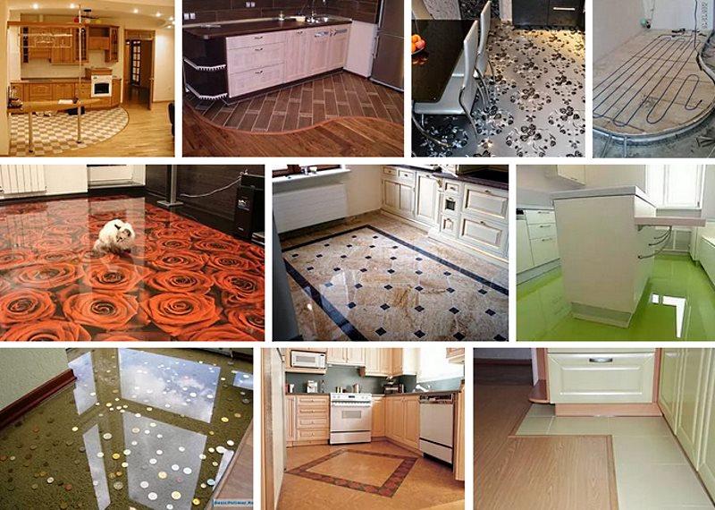 из чего сделать пол на кухне в квартире