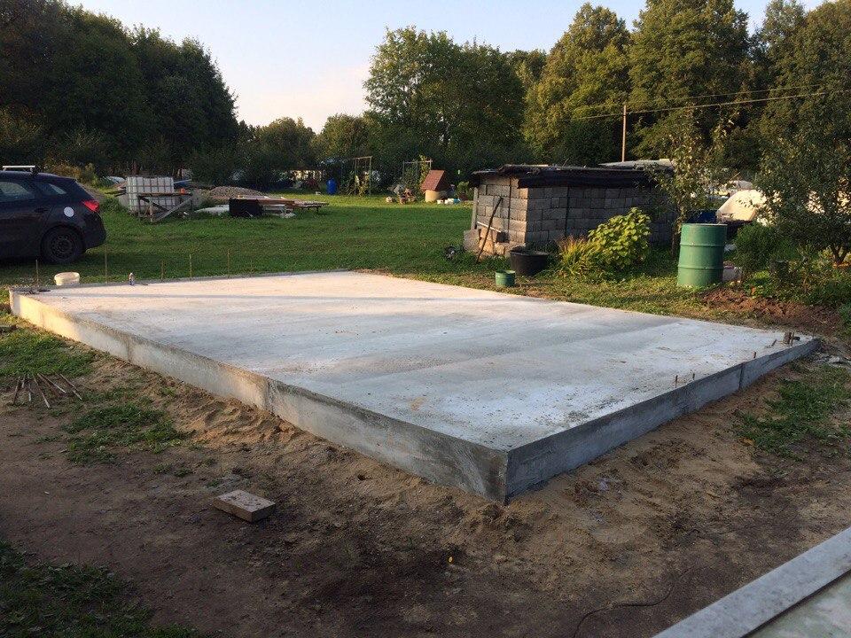 Как построить бетонное основание под гараж